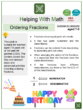 Ordering Fractions (Birthday Themed) Worksheets