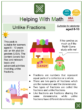 Unlike Fractions (Candy Themed) Worksheets