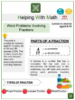 Word Problems Involving Fractions (Nutrition Themed) Worksheets