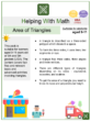 Area of Triangles (Ice cream Themed) Worksheets