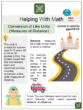 Conversion of Like Units (Measures of Distance) (Landmarks and Monuments Themed) Worksheets