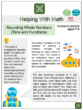 Rounding Whole Numbers (Tens and Hundreds) (Sea Animals Themed) Worksheets