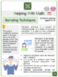 Sampling Techniques (Research Themed) Math Worksheets