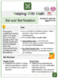 Set and Set Notation (Supermarket Themed) Worksheets