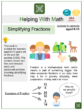 Simplifying Fractions (Living Things Themed) Worksheets