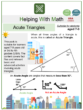 Acute Triangles (City Themed) Math Worksheets