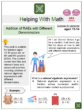 Addition of RAEs with Different Denominators (Vacation Themed) Math Worksheets