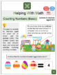 Counting Numbers (Basic) (Easter Themed) Math Worksheets