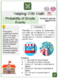 Probability of Simple Events (School Fair Themed) Math Worksheets