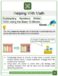 Subtracting Numbers Within 1000 Using the Base 10 Blocks Math Worksheets